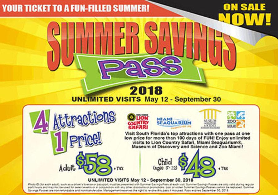 2018 Summer Savings Pass