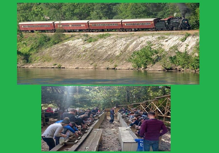 The Delaware River Railroad Mine Train