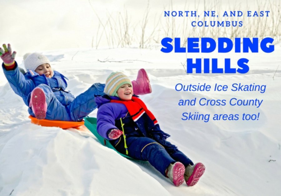 Find all of the fun Columbus area sledding hills, outside ice skating, and cross country skiing areas.