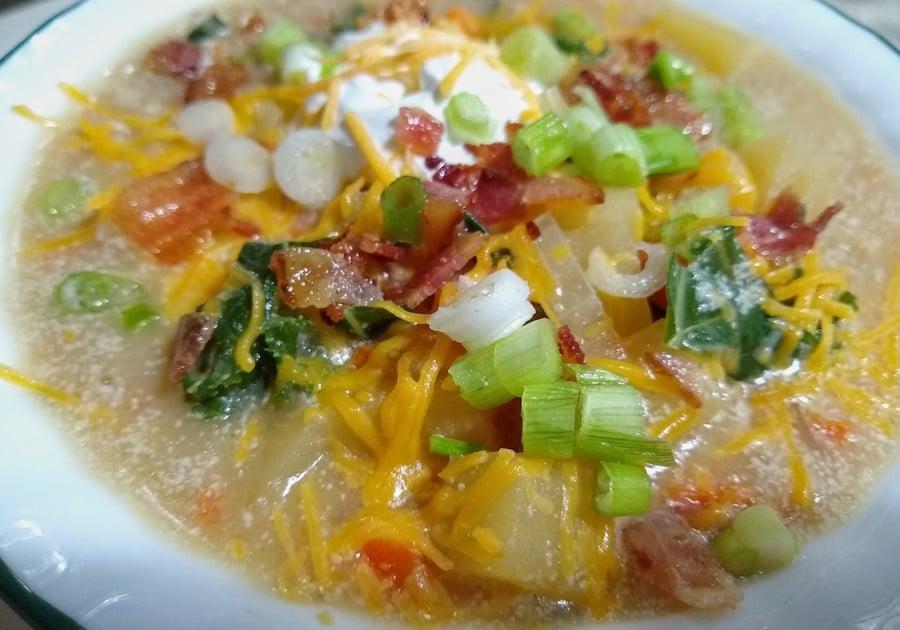 Loaded Rutabaga Soup