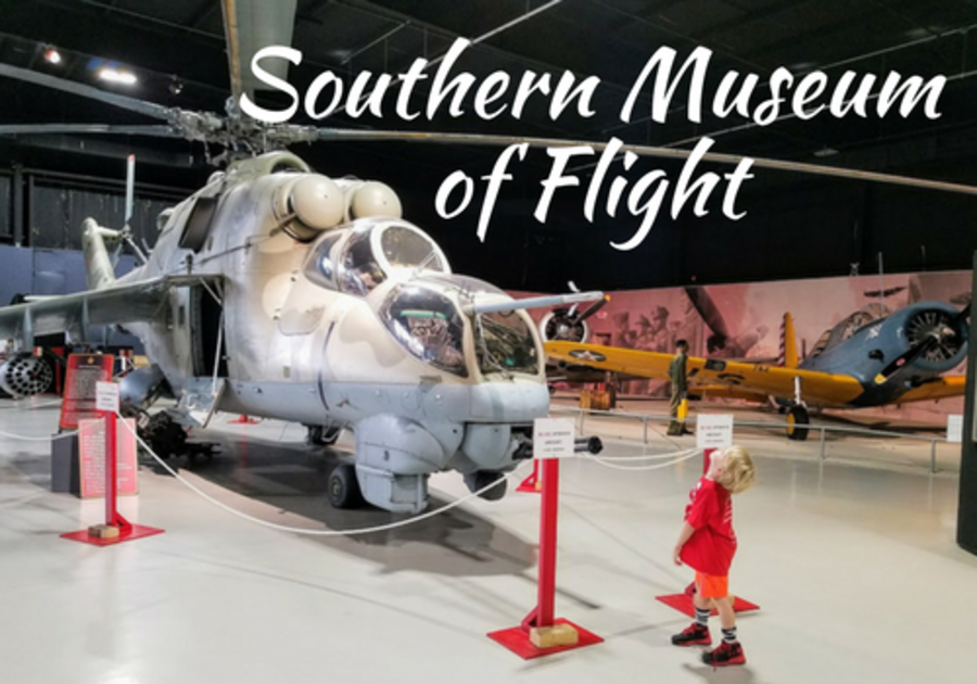 Exploring the exhibits at the Southern Museum of Flight