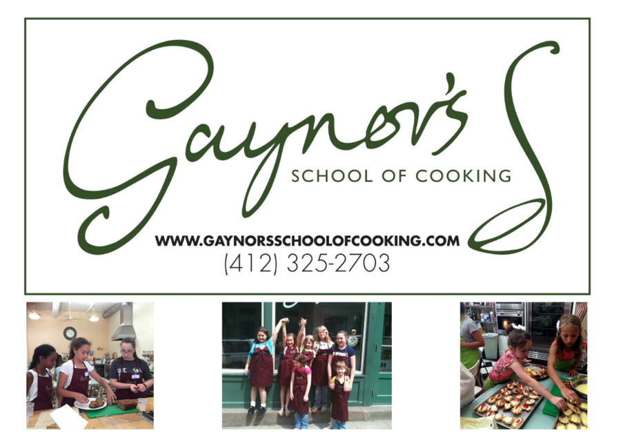 Gaynor's School of Cooking 2021 summer camp options in Pittsburgh for kids