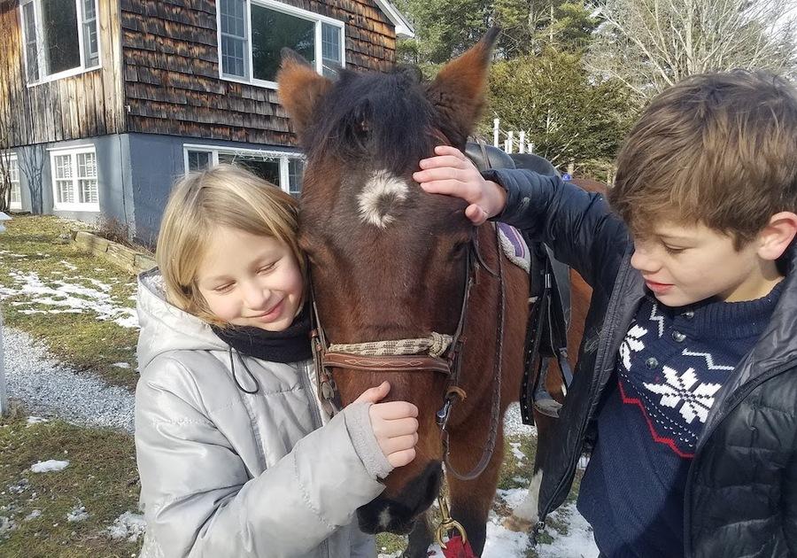 Berkshire HorseWorks kids horse winter