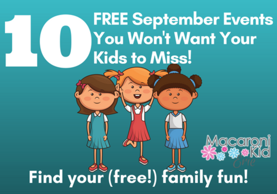 10 free september events in erie for kids