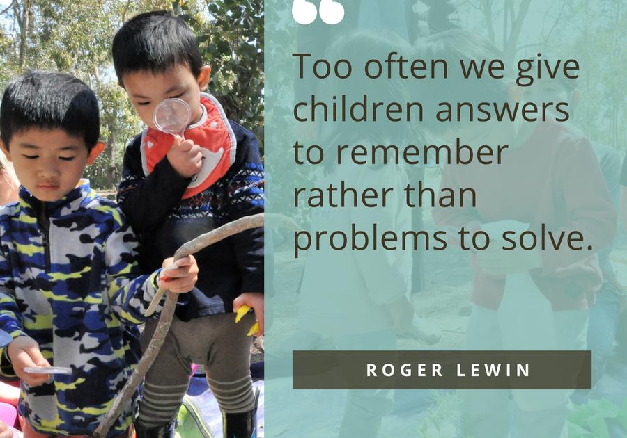 Quote Roger Lewin Children Play Learning Tinkergarten