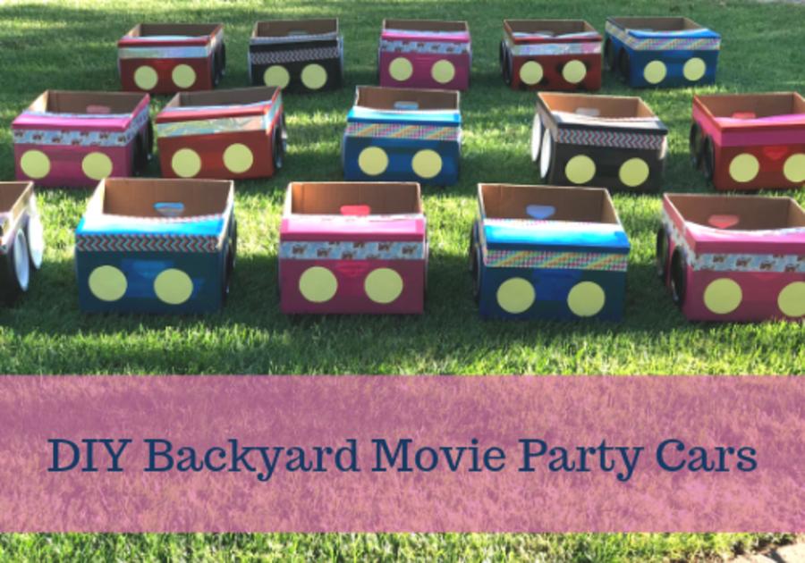 DIY Backyard Movie Party Cars