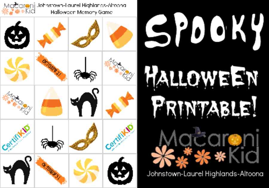 Halloween Memory Game Printable
