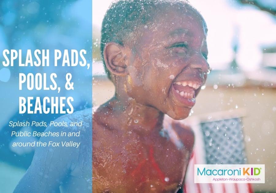 Splash Pads Swimming Pools Life-Guarded Swimming Lakes Cool Off Appleton Waupaca Oshkosh Fox Valley
