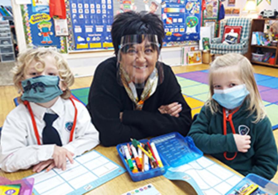 Mrs Randazzo and Students