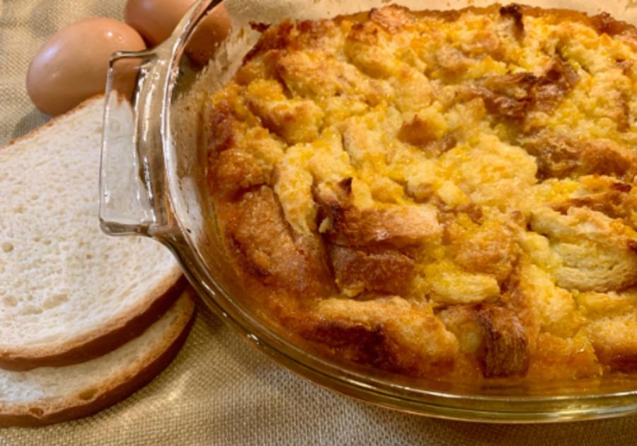 Baked Fruit Casserole Peaches or Pineapple NestFresh Eggs