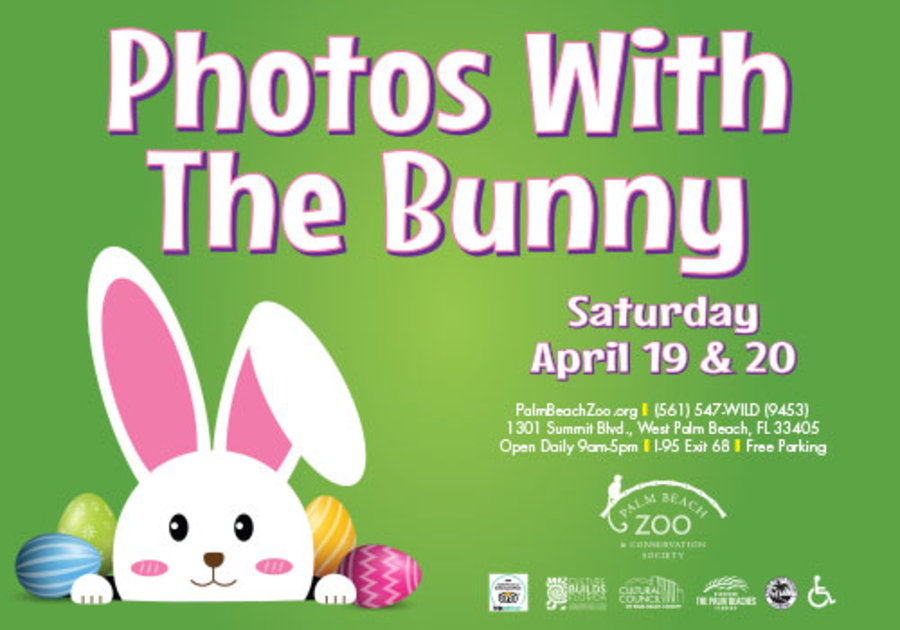 Photos with the Bunny at the Palm Beach Zoo