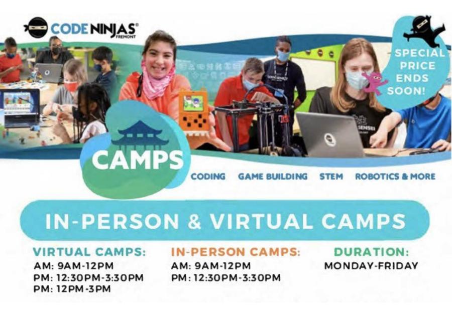 Code Ninjas Fremont Summer Camp 2021