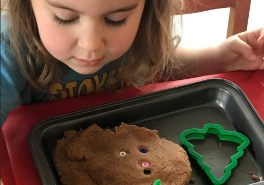 homemade gingerbread play dough