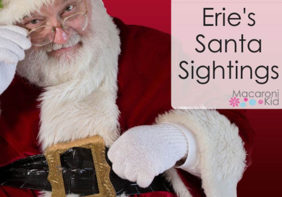 where can kids see santa in erie pa