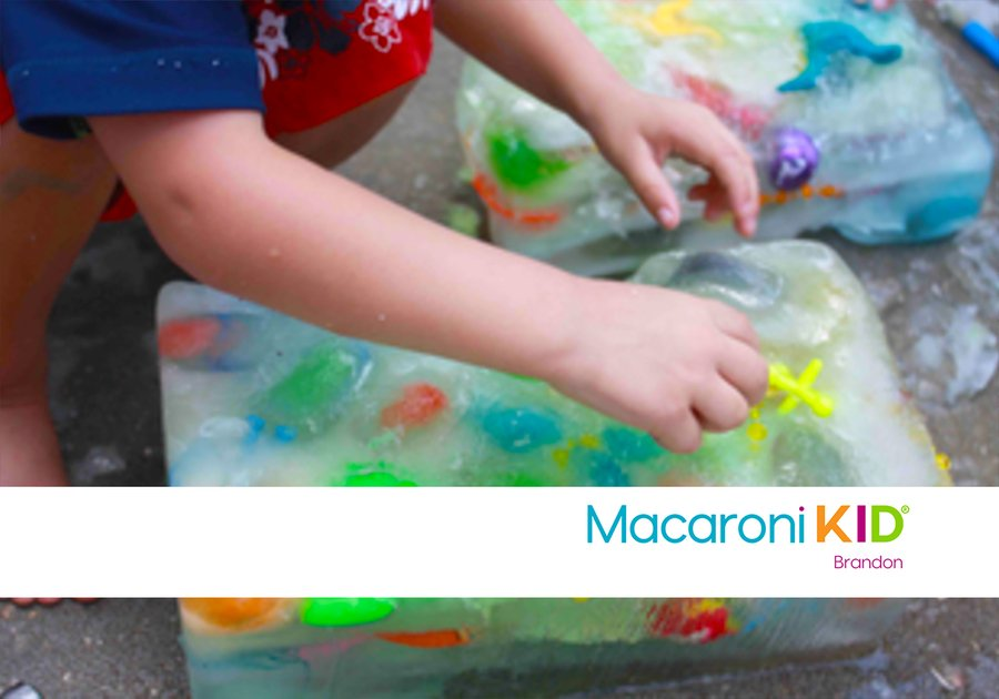 Ice Block Treasure Hunt Activity stay cool and have fun with this summer fun project.