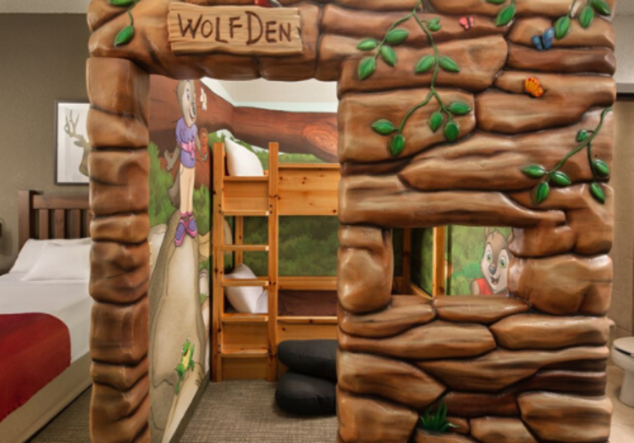 Themed room at Great Wolf Lodge