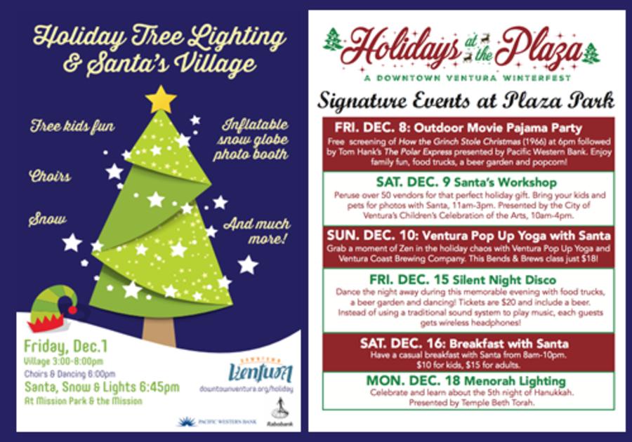 Camarillo Christmas Tree Lighting 2021 Downtown Ventura Hosts Christmas Tree Lighting On Friday December 1 Macaroni Kid Camarillo Ventura Oxnard