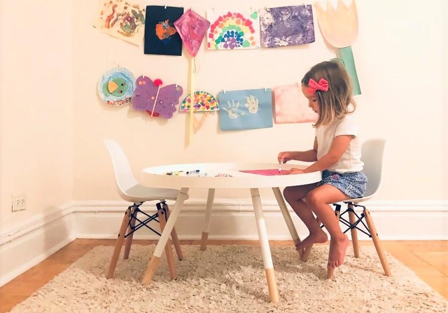 organizing kids artwork