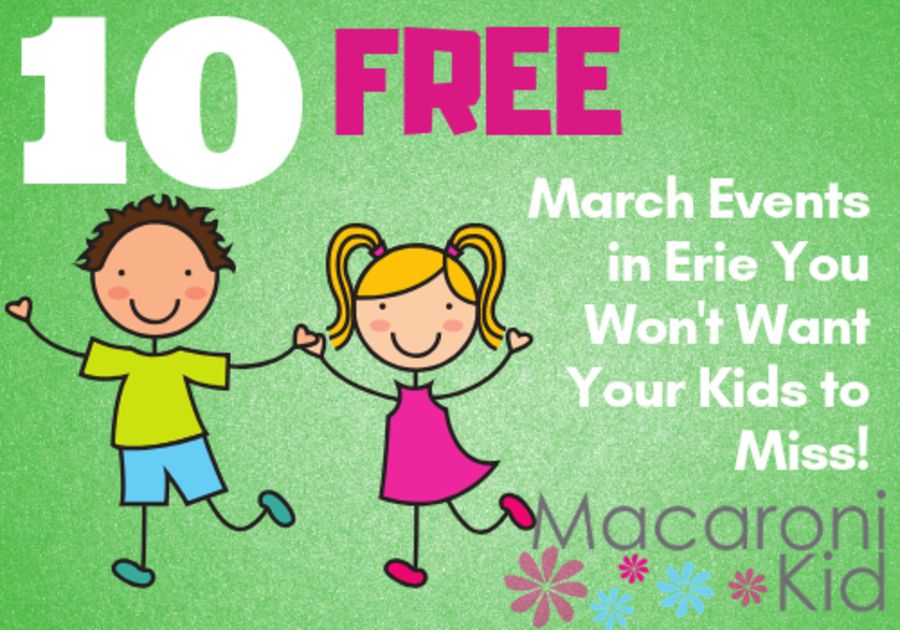 Free March events in Erie PA