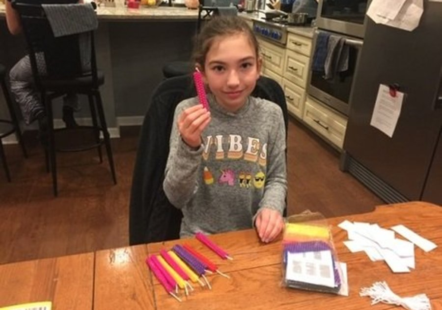 make your own Hanukkah candles