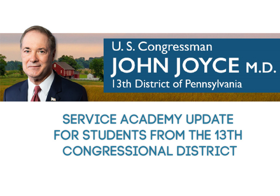 Service Academy Update students from the 13th Congressional District