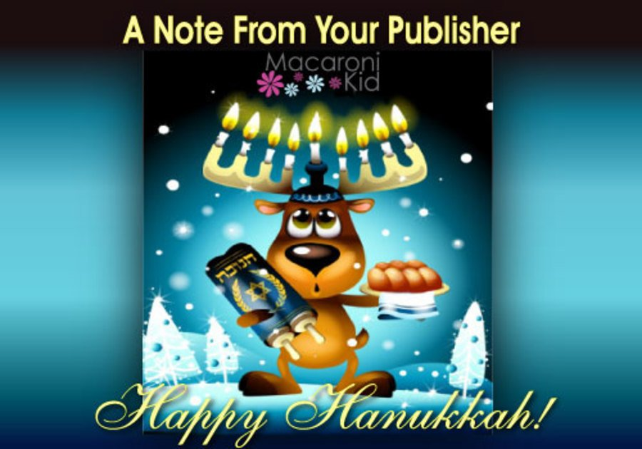note from your publisher hanukkah