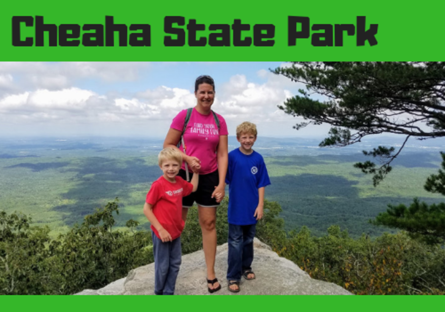 Mac Kid reviews family fun at Cheaha State Park, camping and day trip near Birmingham, Alabama.