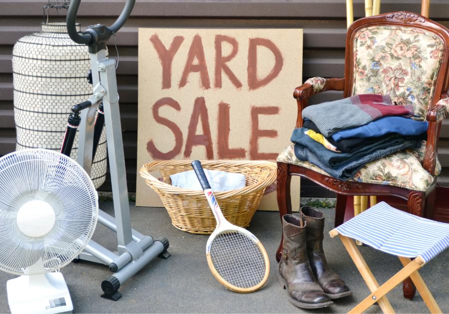 Shop the big indoor yard sale