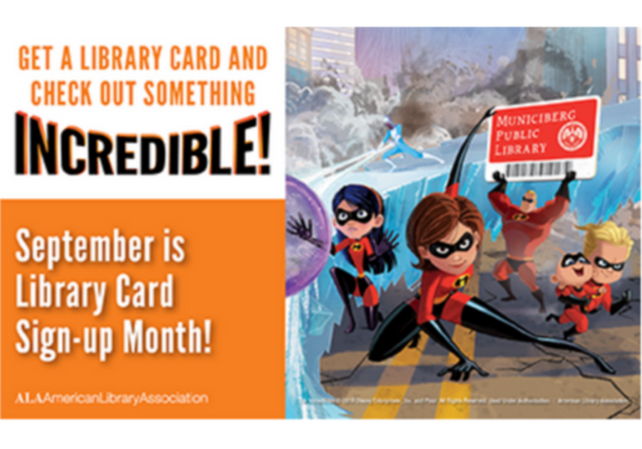 September is Library Card Sign Up Month for Kids