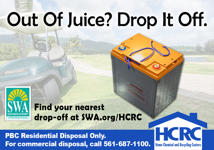 SWA's April Household Hazardous Waste Tip Rechargeable Batteries Can Cause Fires if Put in Recycling