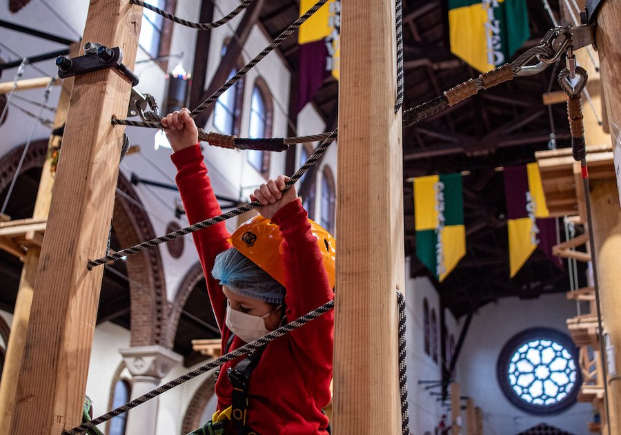 The Dragon's Den Youth Center Summer Camp Challenge Course Teens Zip Line Climbing Wall 1
