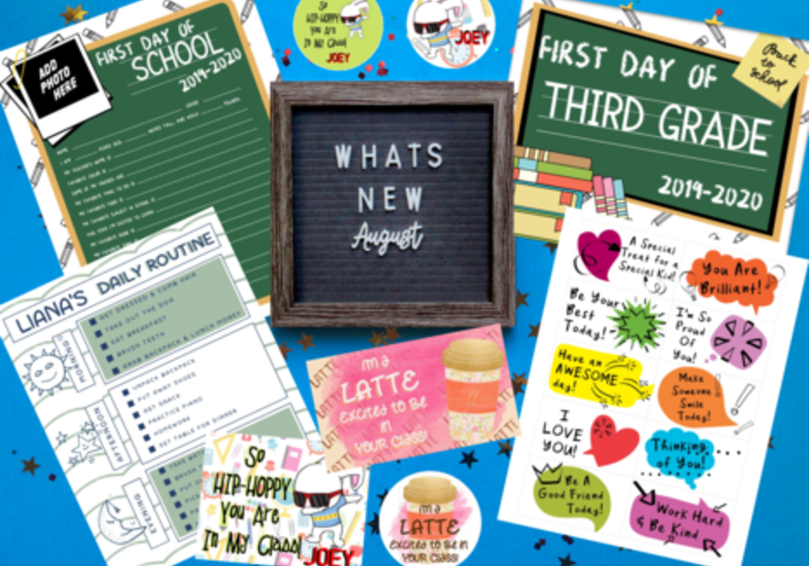 Back to School Printables, First Day of School Printables, and Printable Lunchbox Notes