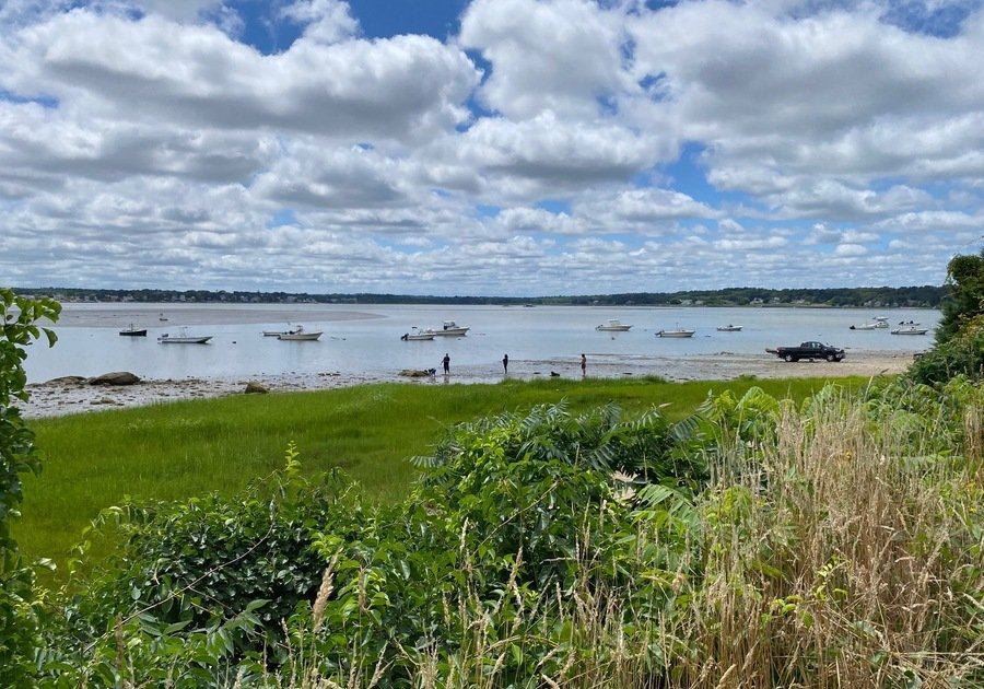 Overlooking Kingston Bay at Howland's Landing in Duxbury MA