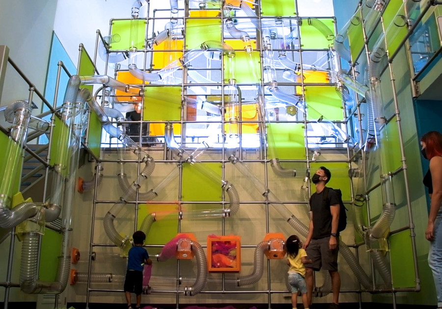NEW Air Exhibit Amazing AirMaze at Children's Discovery Museum of SJ