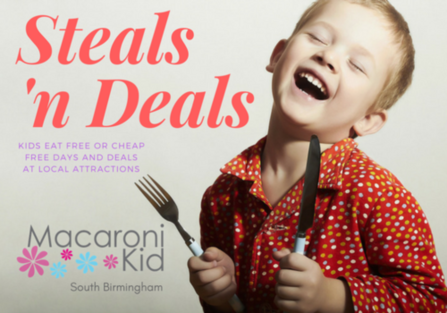 Kids eat free or cheap in Birmingham, deals local attractions
