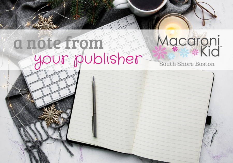 a note from your publisher