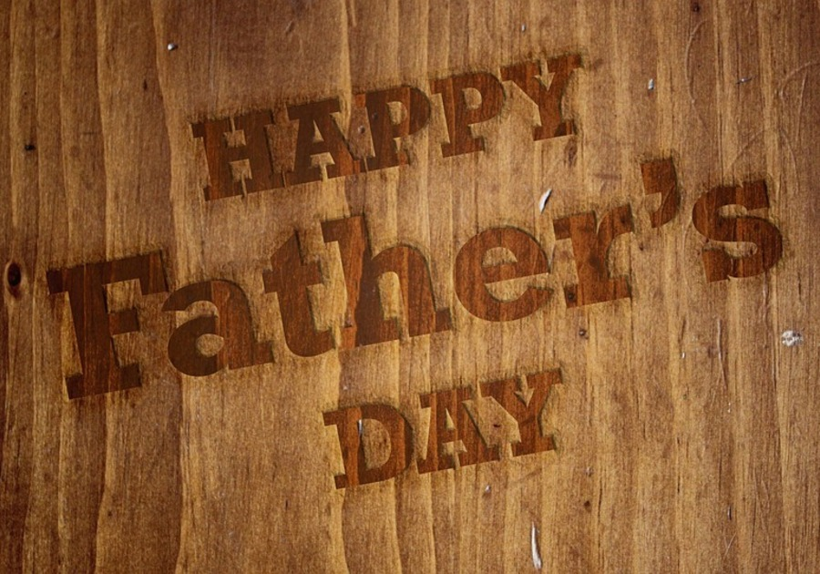 Father's Day wood burnout