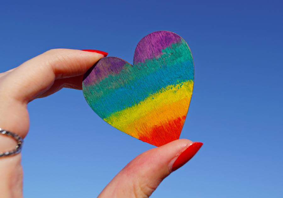valentine heart rainbow