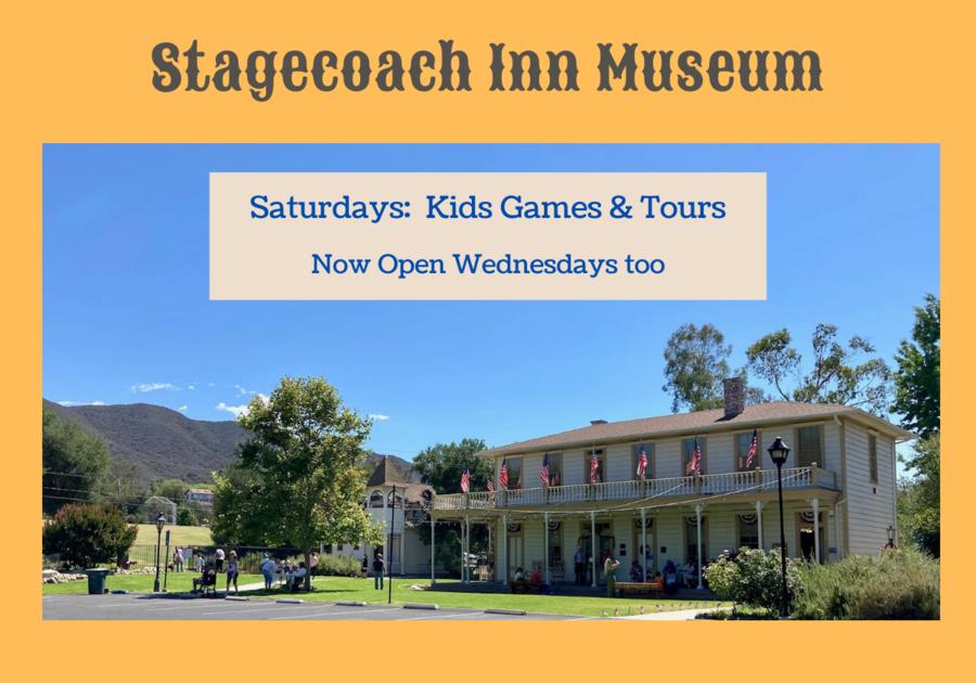 Stagecoach Inn Museum, Saturdays: Kids Games & Tours also open Wednesdays