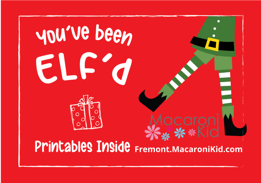 You've been elf'd Holiday gift basket fun