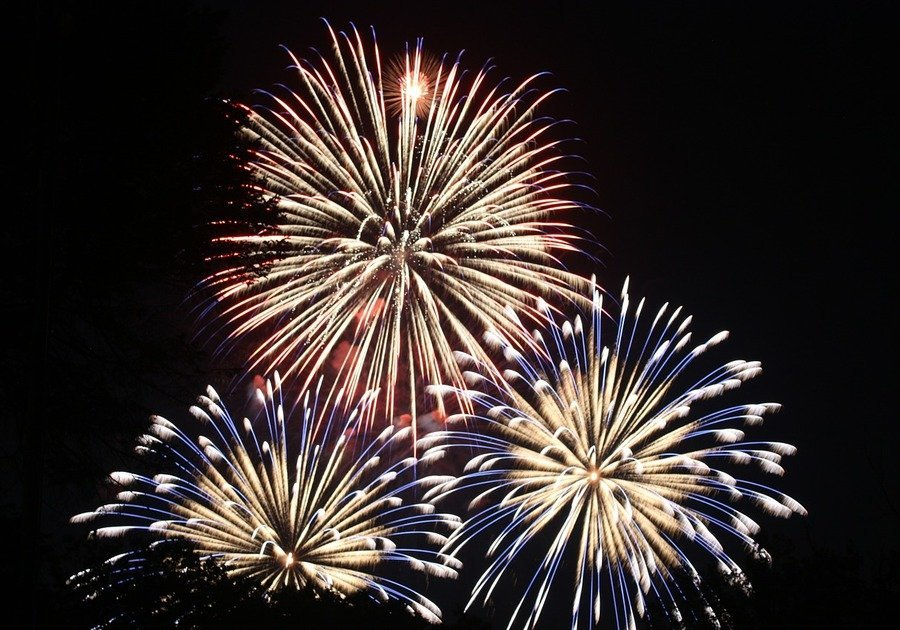Fireworks in Easter Iowa