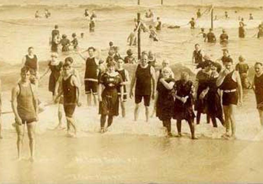 Public Domain Vintage Long Beach Bathers circa 1914